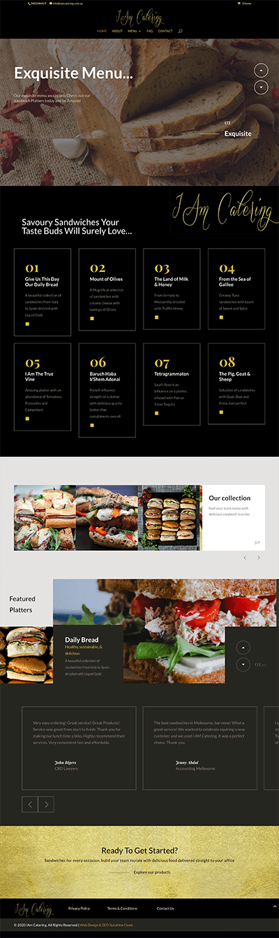 website catering melbourne