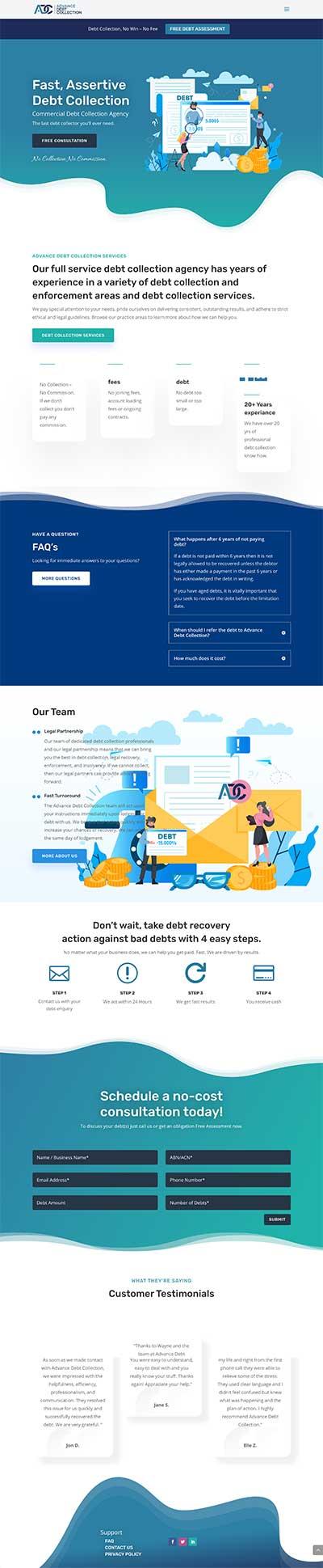 debt-agency-website-design-sunshine-coast-brisbane-sydney-melbourne