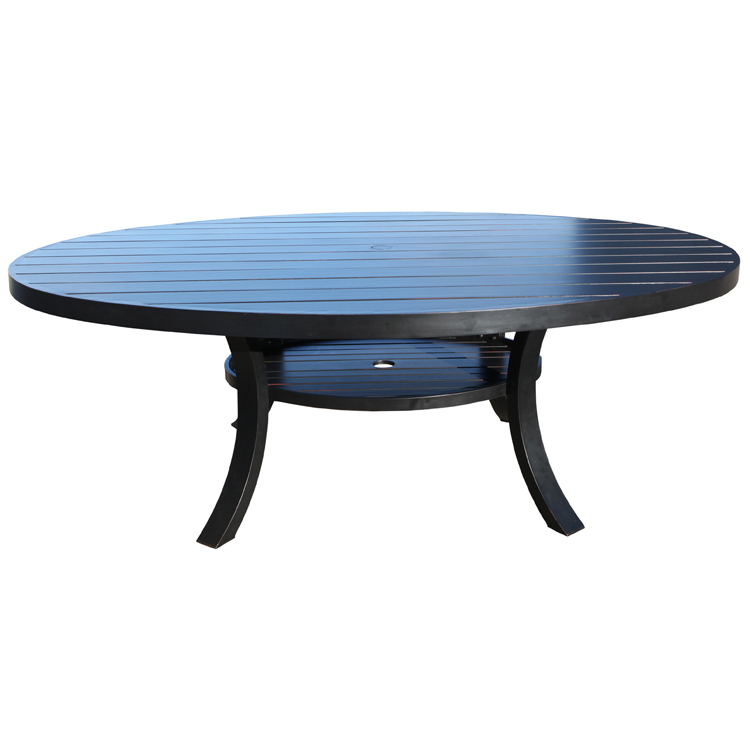 Monaco Cast Aluminum 72 Round Dining Table Patio At Sun Country