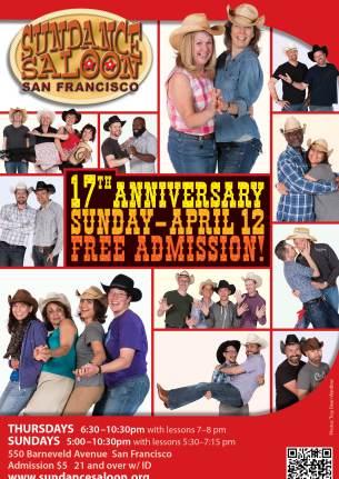Sundance Saloon 17th Anniversary poster