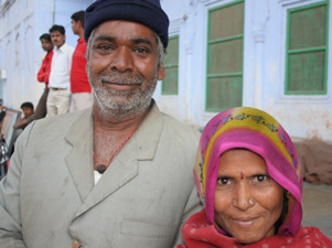 Happy couple -Pushkar