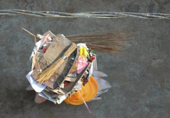 Pushkar - street cleaner