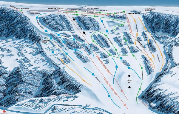 Snow Report and Trail Map Sundown Mountain Resort