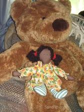 Joy the Sunflower Girl and Bear