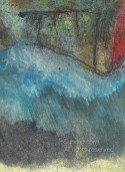 Threshold detail 4 - layered brush strokes, direction of water