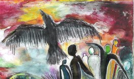 The leading crow