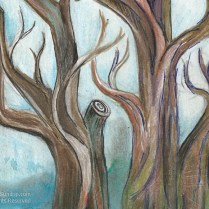 Tree in watercolor and ink d2