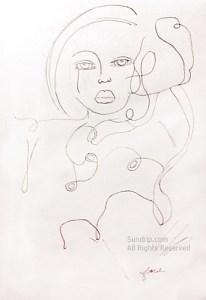 Lady in Scribbles