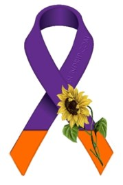 Lupus CRSD  Sunflower Purple Orange Ribbon Design Sundrip