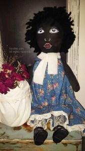Black Raggedy Ann Doll handmade African Americana Rag doll