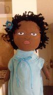 African American bag holder doll - SOLD