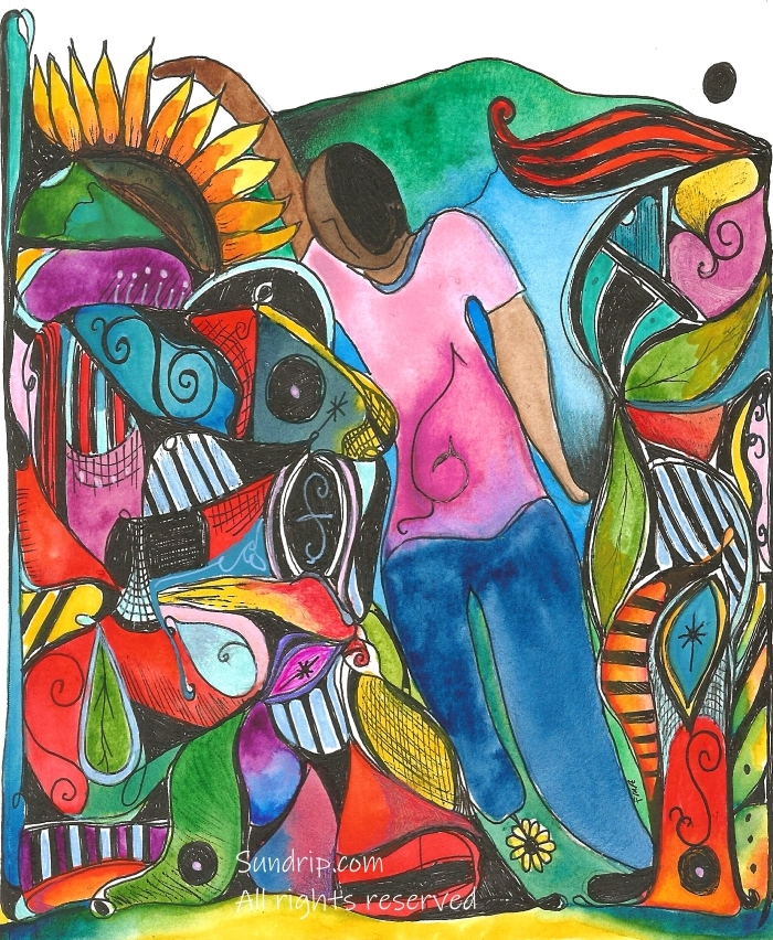 Flowered Amputation Art