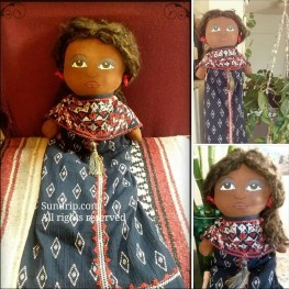 African American bag holder rag doll Annette