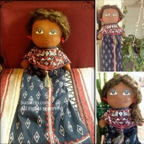 African American bag holder rag doll Annette