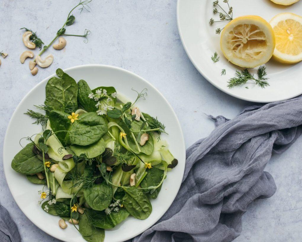 groene salade eten