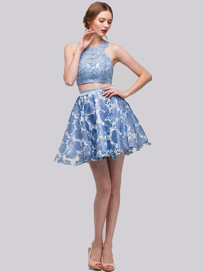Short Two Piece Dresses Prom