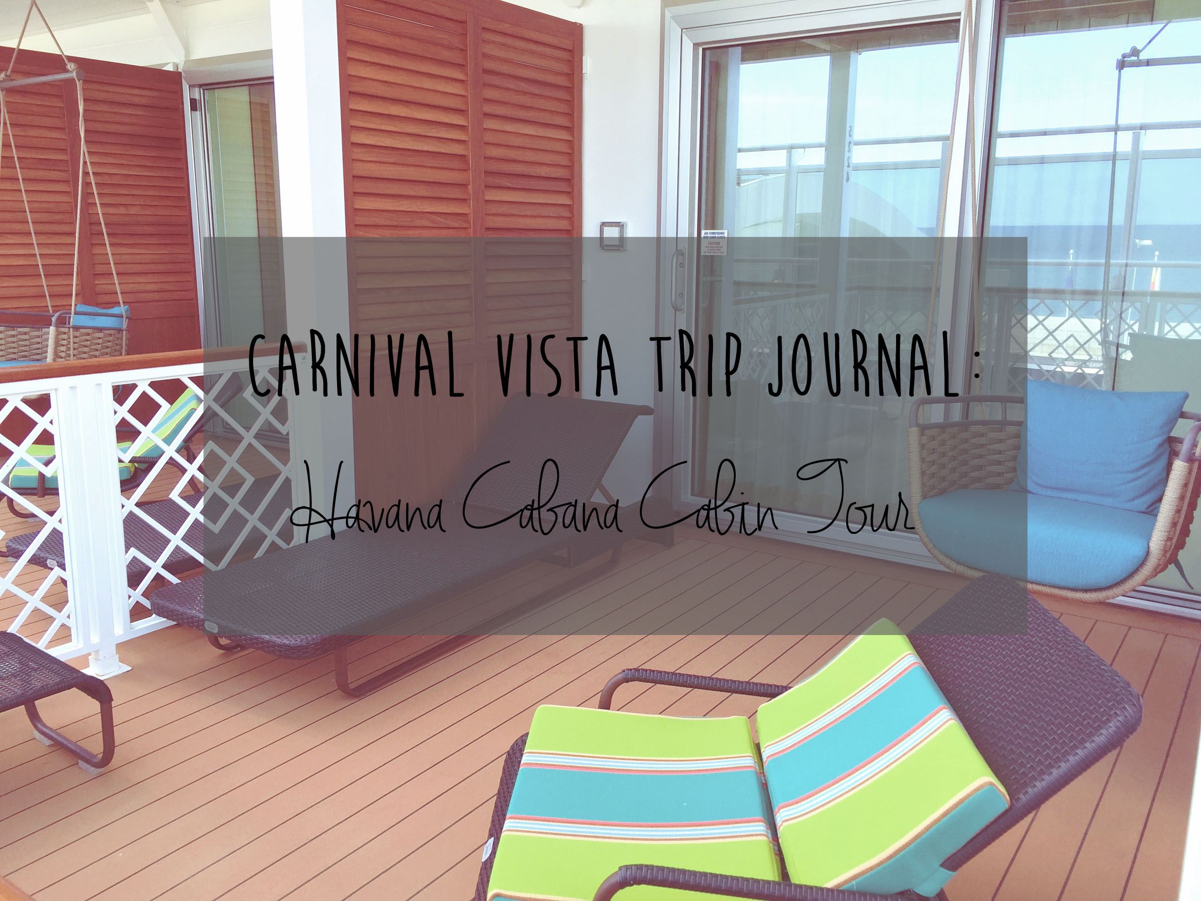 Sunglasses and Umbrella Drinks Carnival Vista Review Inside the