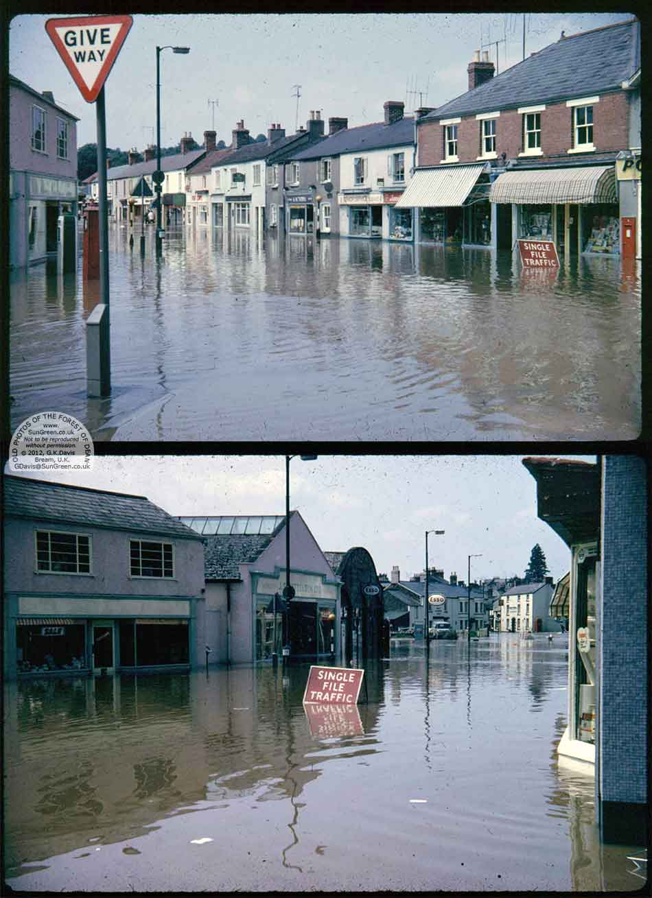 Lydney Flooding In Newerne St In 1968