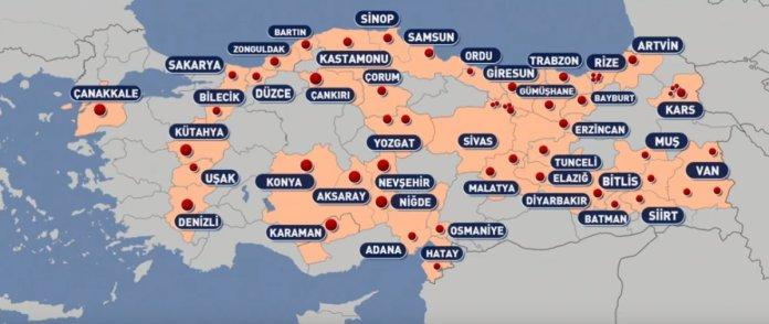Türkiye'de koronavirüs nedeniyle karantinaya alınan yerleşim yerlerinin sayısı her geçen gün artıyor. Şu ana kadar 42 ilde, 4 ilçe 3 belde, 44 mahalle, 71 köy, 6 mezra karantinaya alındı.
