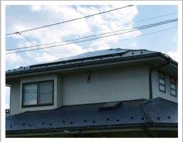 一般住宅のスレート屋根への太陽光パネル設置