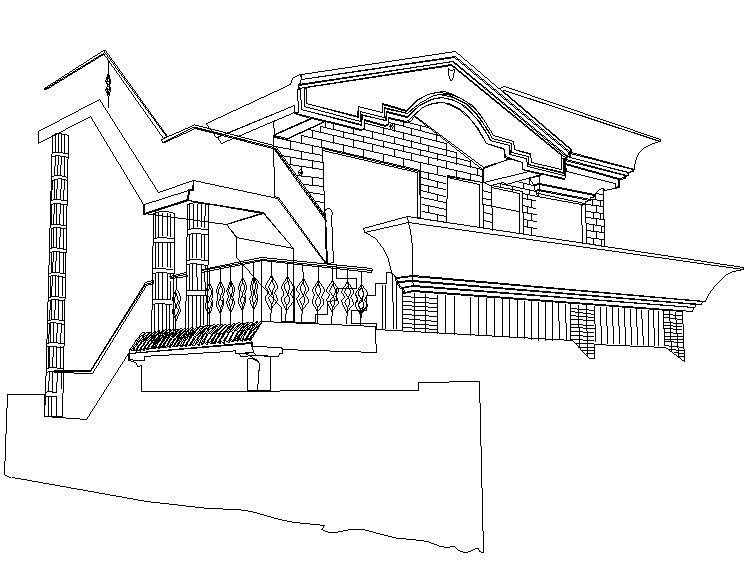 Home Sweet Home illustration Outline