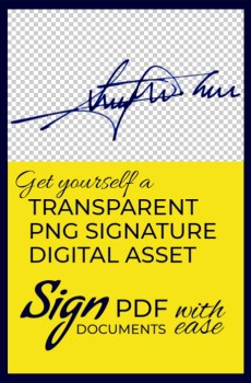 Transparent PNG Signature Digital Asset