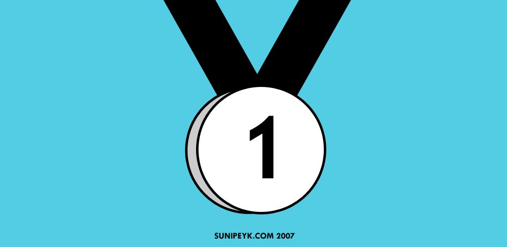 birinci yazan madalya