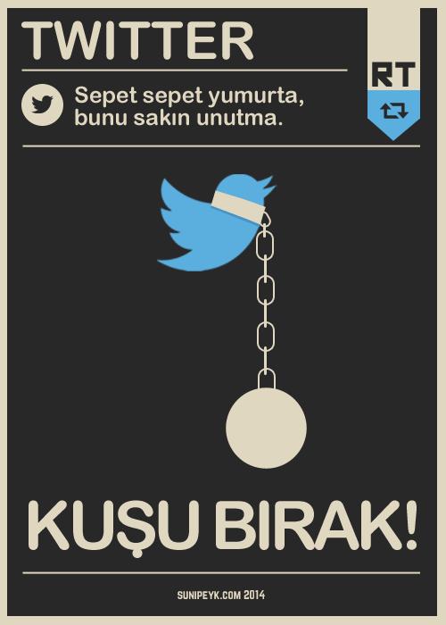 twitter kuşu bırak poster