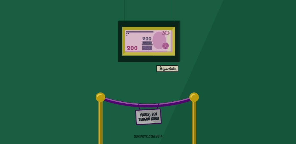 iki yüzlüler ve 200 TL lik banknot