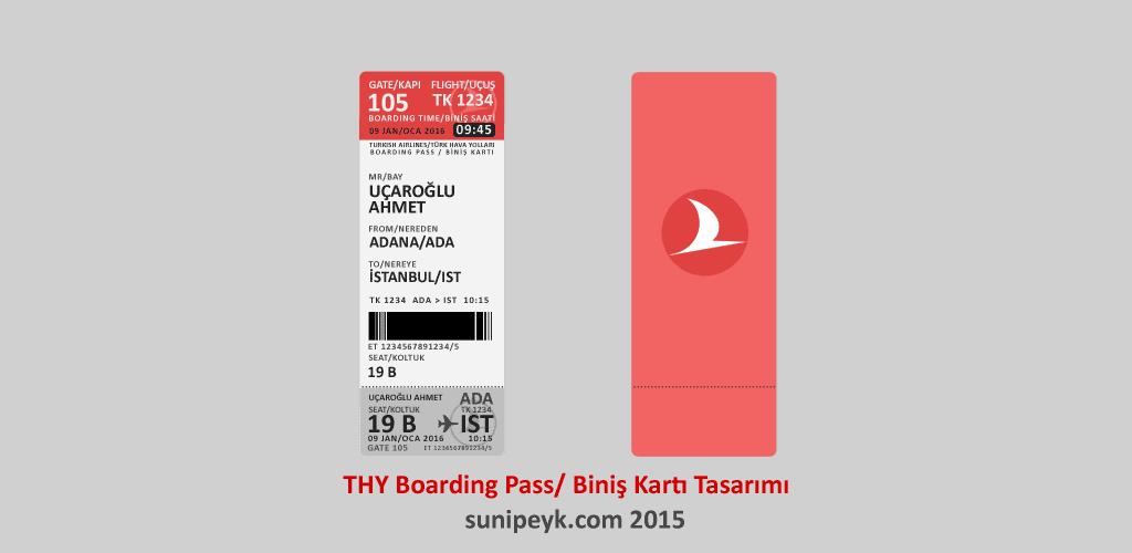 THY boardingpass tasarımı