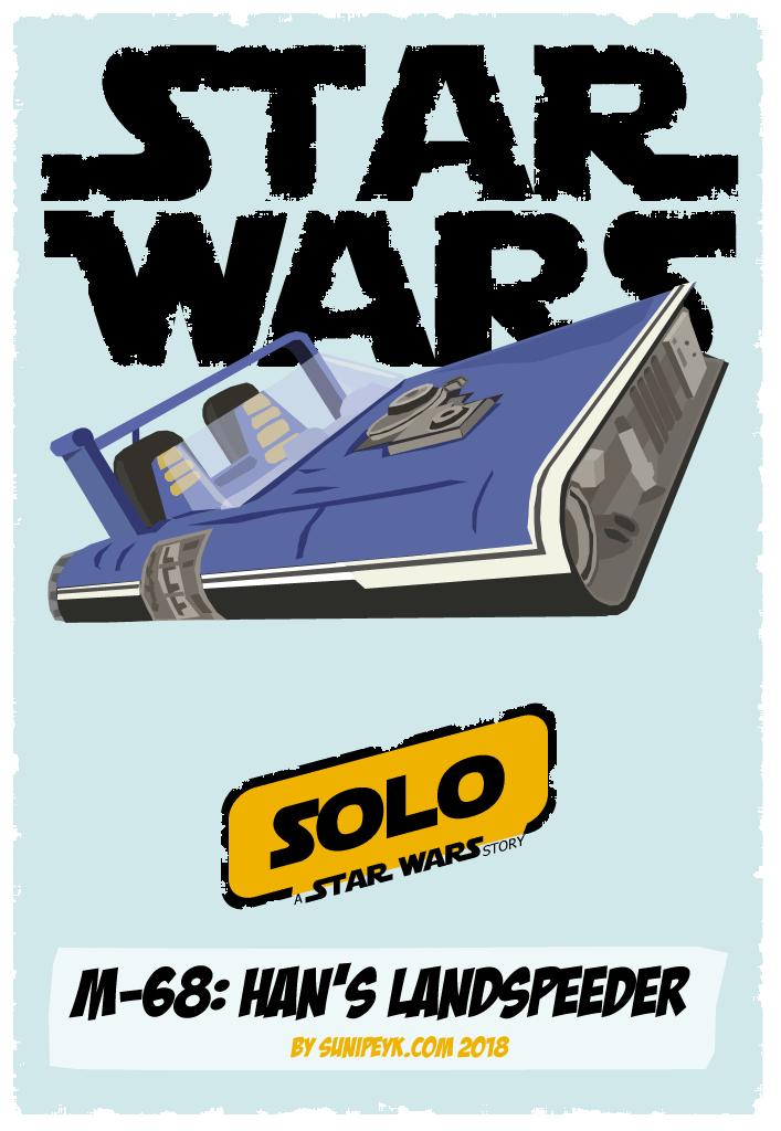 Star Wars Han's landspeeder poster