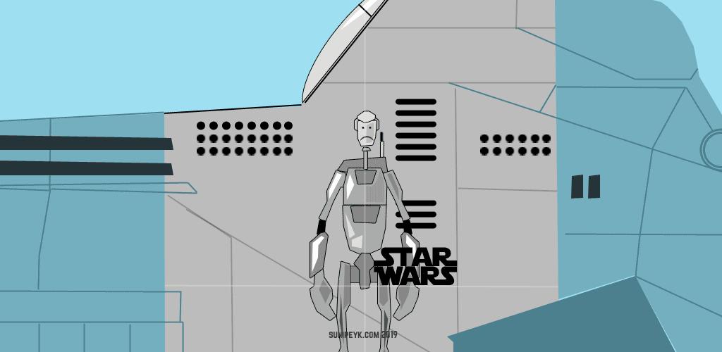 Star Wars savaş droidi posteri