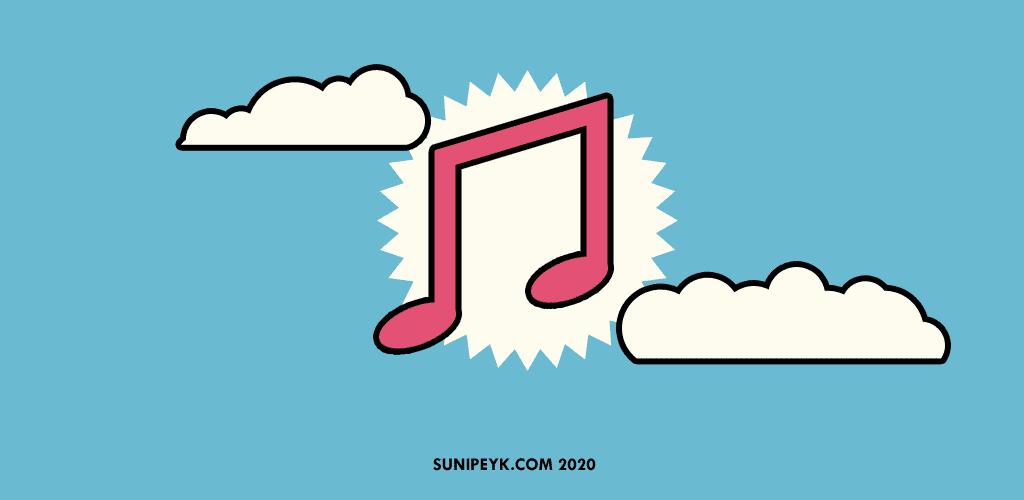 bulutlar içinde bir müzik notası