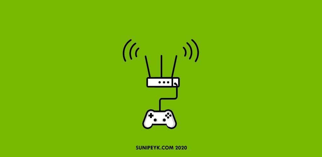 Buluttan oyun, oyun kolu ve modem ikonu ile