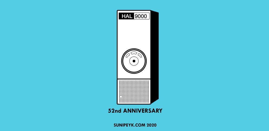 Siyah beyaz HAL 9000 ikonu