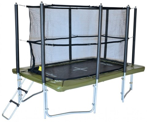 12ft x 8ft XR 360 Rectangular Trampoline With Enclosure And Ladder