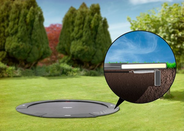 Berg-Flat-Ground-Champion-Trampoline-Grey