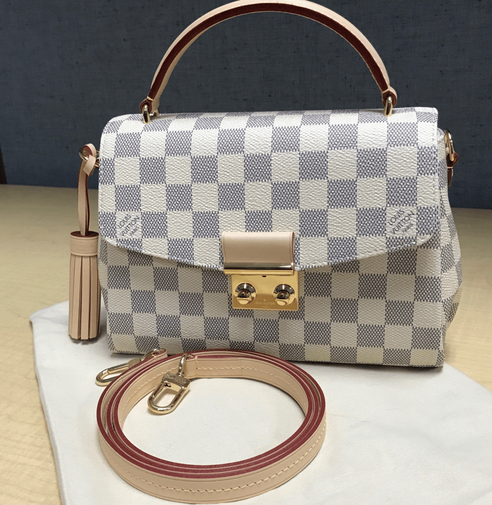 ab9a2faf6be1 Review  Louis Vuitton Croisette Bag in Damier Azur - Sun Kissed Violet