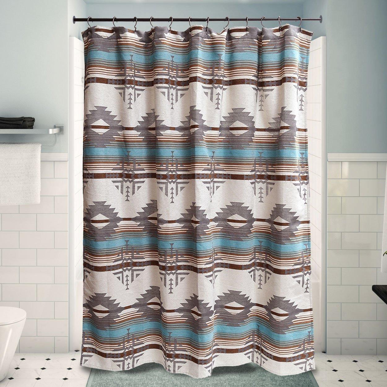 badlands sky fabric shower curtain