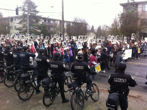 Thats right, our police roll on bikes. Only in Seattle lol