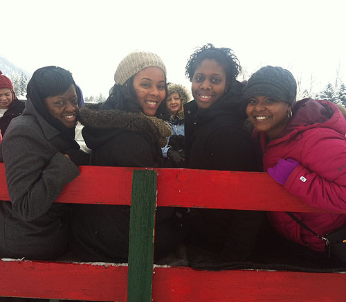 It was a perfect snowy day for a sleigh ride!