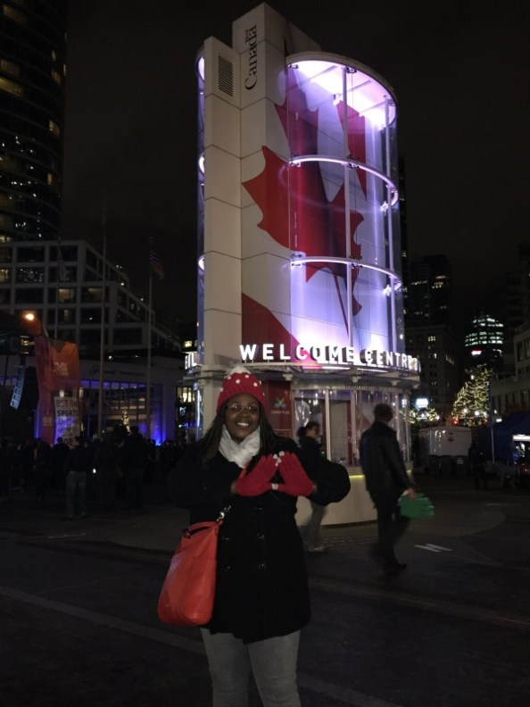 owt and about in downtown vancouver. it was cold!