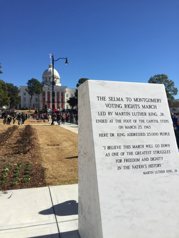 marker for the historic march from selma to montgomery