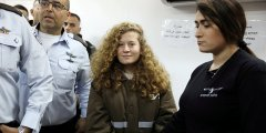 عهد التميمي تتنفس الحرية بعد حبس ثمانية أشهر