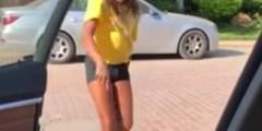 ابنة داليا البحيري ترقص كيكي بجوار سيارة والدتها