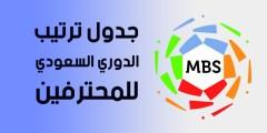 تعرف على جدول ترتيب الدوري السعودي للمحترفين .. قبل انطلاق الجولة 29