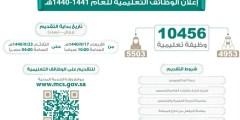 رابط التقديم عبر جدارة لـ 10456 وظيفة شاغرة في وزارة التعليم