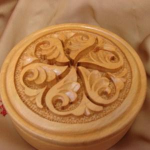 Round Wooden Jewelry Box