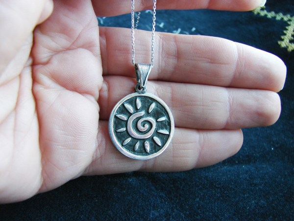 Necklace Sun Sterling Silver 925