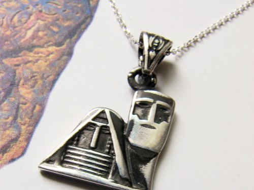Artsakh Symbol Pendant Grandma and Grandpa, Tatik-Papik, Sterling Silver 925